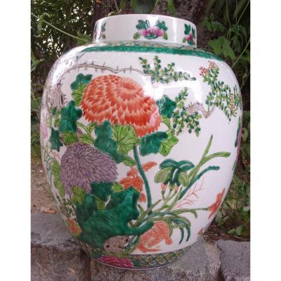 Vase En Porcelaine De Chine Fin XIXème Début XXème étiquette d'Origine Période République