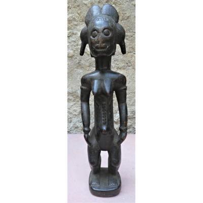 Superbe Et Ancienne Statue Féminine Baoulé Blolo Bla De Côte d'Ivoire