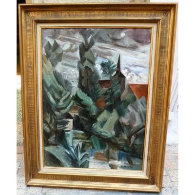 Paysage Cubiste Par Andre Favory 1889-1937