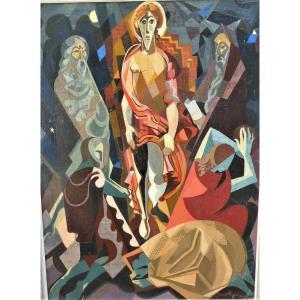 Résurection Par Louis Giraud 1910 - ? cubisme
