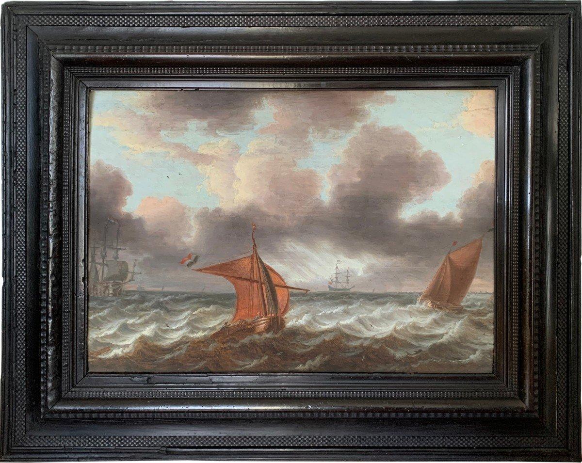 Marine hollandaise du XVIIème, monogrammé AVV