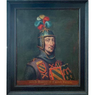 Portrait Of Eude IV In Armor, French School Of The Seventeenth