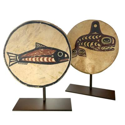 Ceremonial Drums From Haida Island - British Columbia
