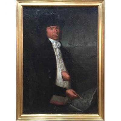 École sicilienne de la fin du XVIIIe – Portrait d'un capitaine
