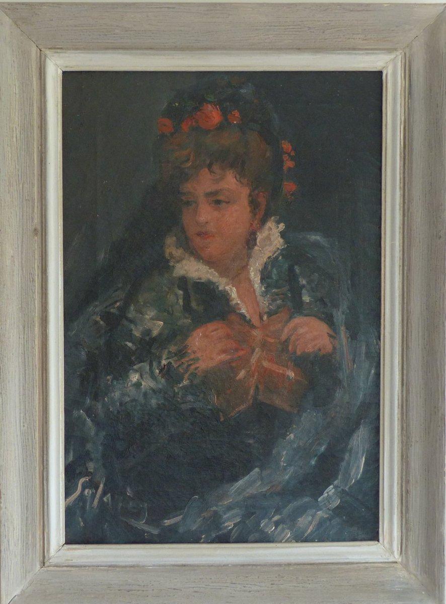 peinture portrait de femme vers 1900
