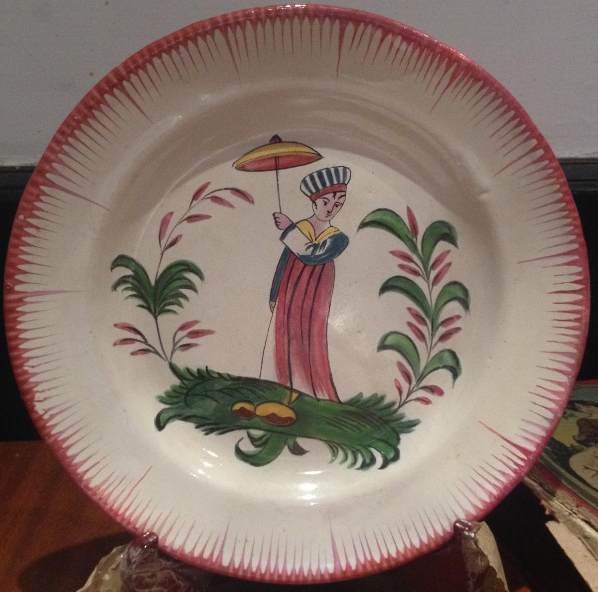 Plate Of The Faience Islettes, Nineteenth, 23 Cm