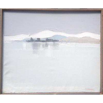 Pierre Langlois, Saint Paul De Vence, Oil On Canvas, Signed, 46 X 38 Cm