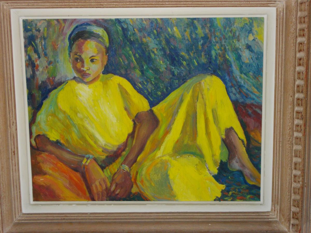 Girl With Yellow Dress H / P 49 X 60 Cm