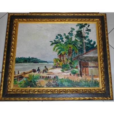 Geo François (1880-1968) Paysage Des Antilles