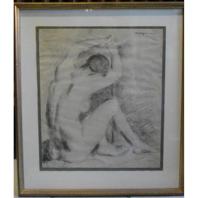 Nude 1920 Geza VÖrÖs  Drawing