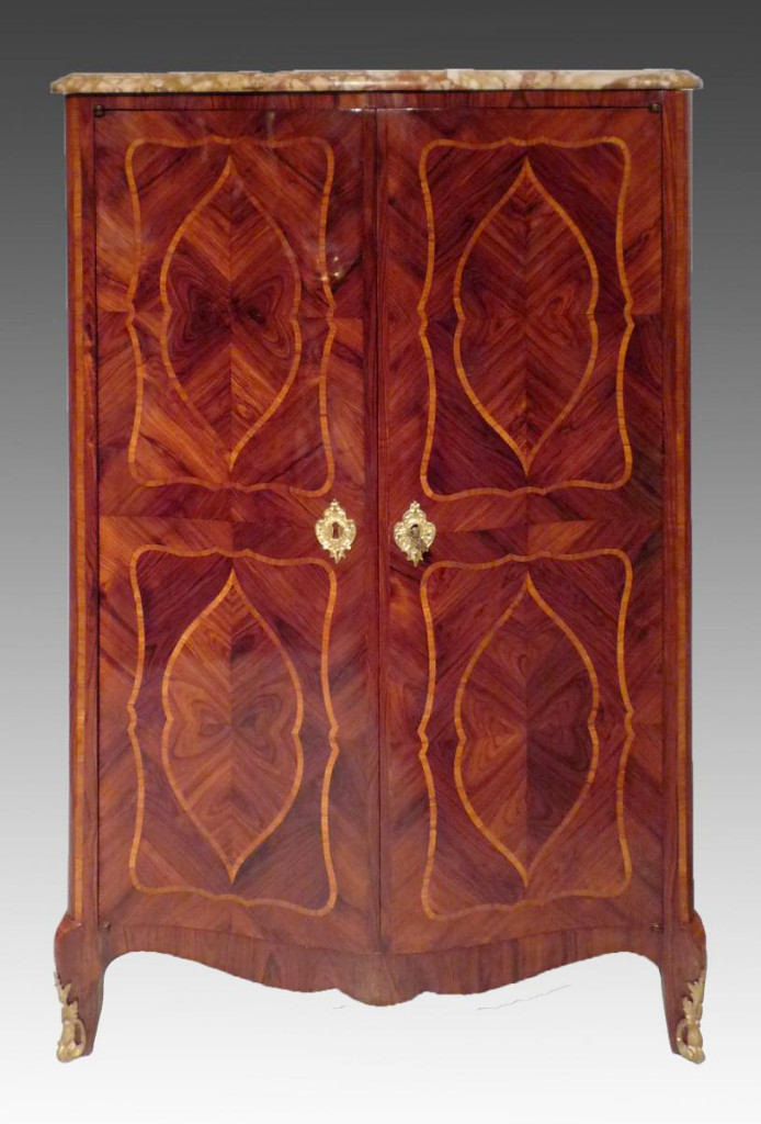 Cabinet Doors 18th Century Inlaid Wood Violet Stamped Durant (good) And Jme