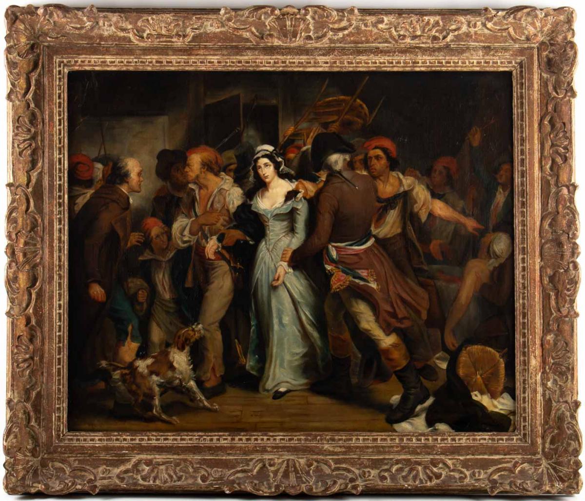 L' Arrestation de Charlotte Corday par Henri Scheffer