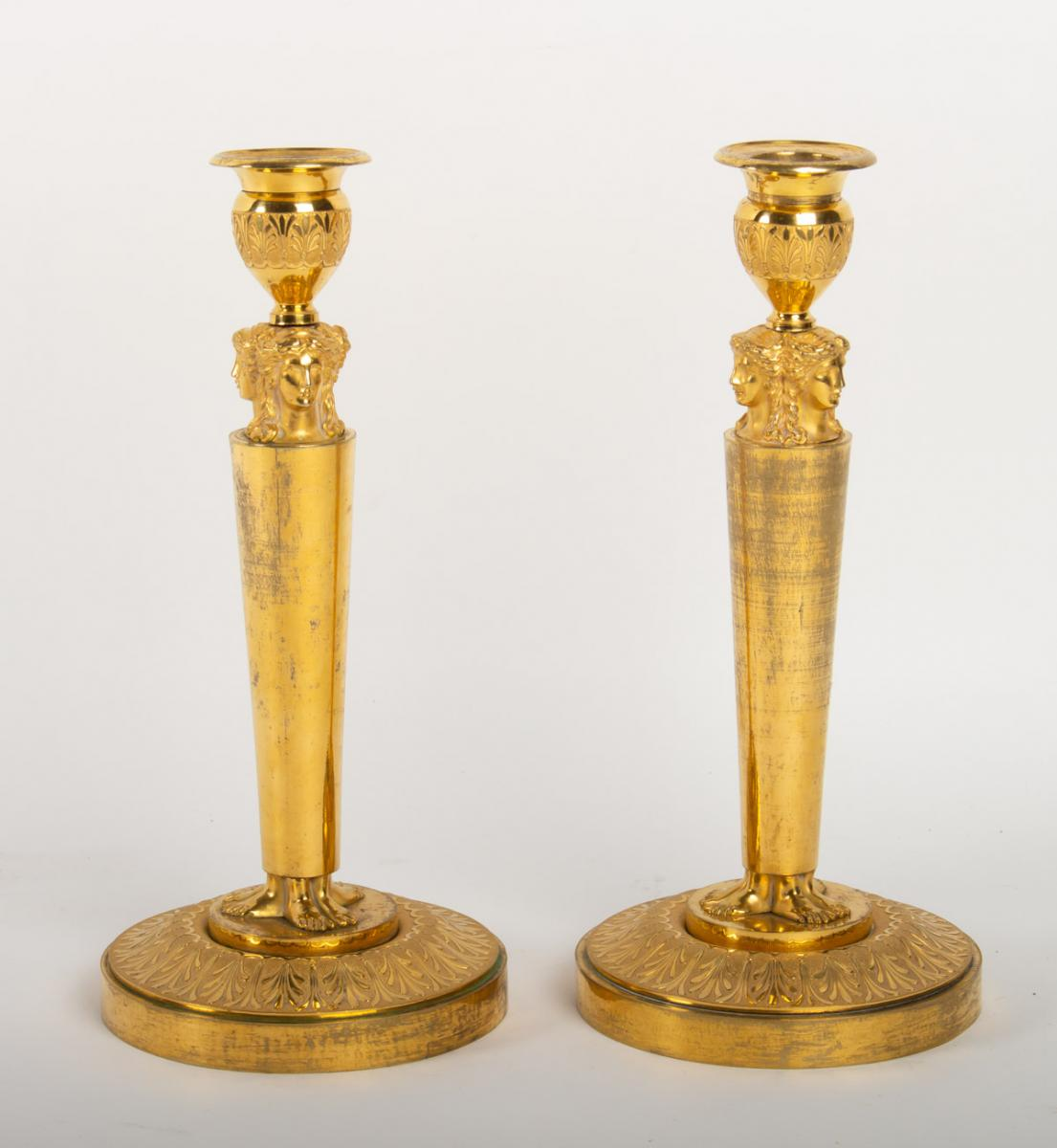 Pair Of Candlesticks Model Of  Claude Galle