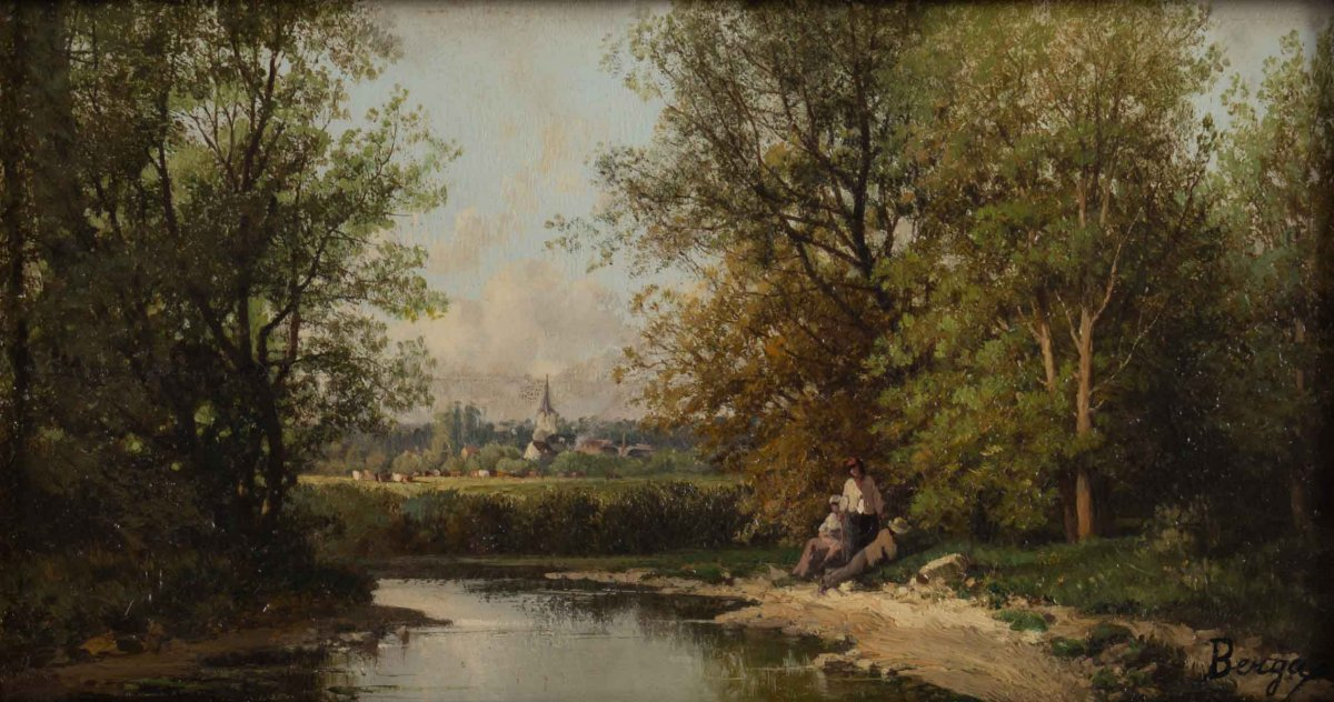 Figures By The River By Josep Berga Y Boix