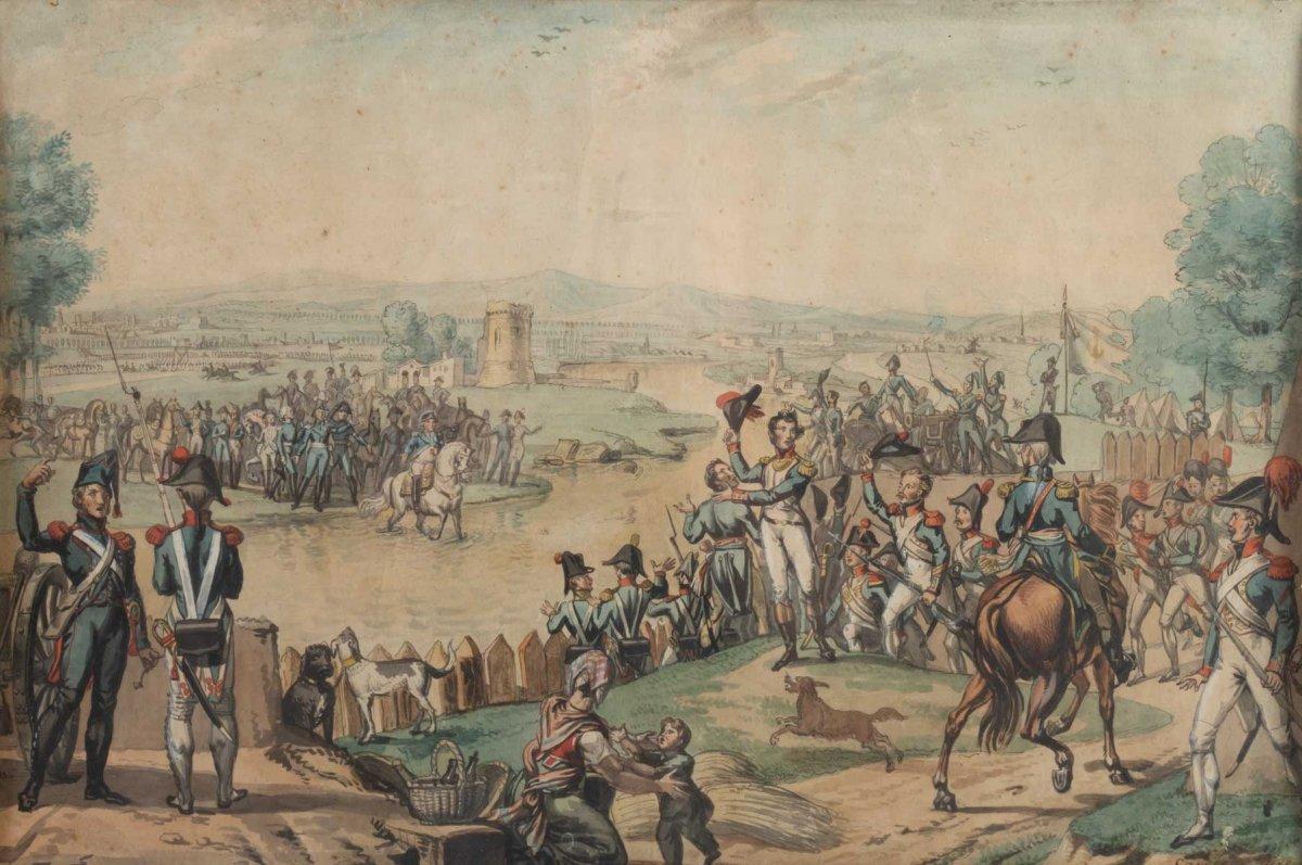 Scène Militaire Empire Près d'Huningue -photo-2
