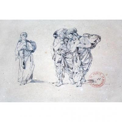 Dessin Orientaliste Par Eugène Fromentin