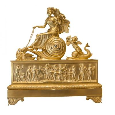 Large Clock, Empire Period, Picturing Aphrodite And Arion