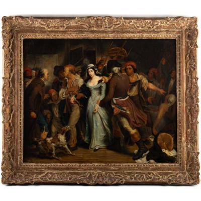 """""""arrest Of Charlotte Corday"""" Henry Scheffer (1789-1862)"""