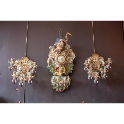Porcelain Garniture From Dresden XIXth Century