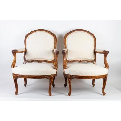 Suite Of Four Armchairs Transition Style