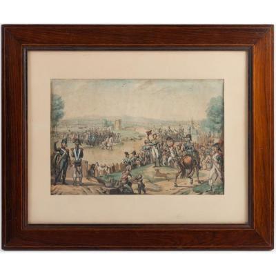 Napoleonic Military Scene Near Huningue