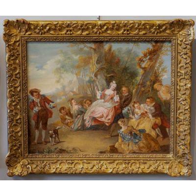 l'Escarpolette  reprise du tableau de Jean Baptiste Pater