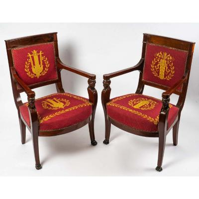 Pair Of Empire Period Armchairs