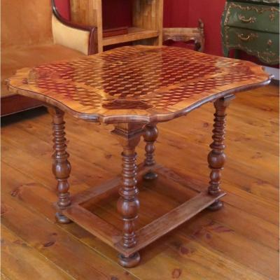 A Fine 19th Century French Table In Marquetry