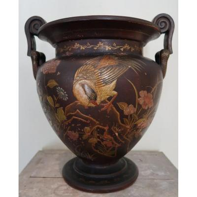 Vase de forme cratère ansé inspiré de l'antique
