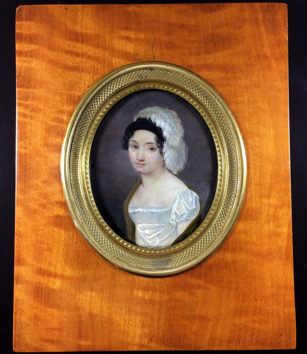 Empire Miniature Portrait, Circa 1810