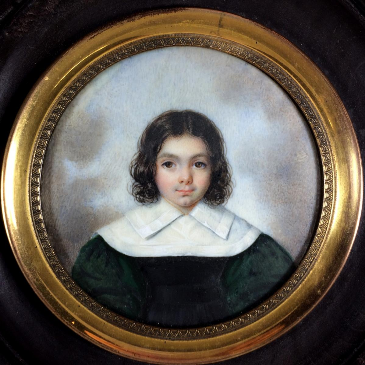 Portrait Of A Child, Miniature Circa 1830
