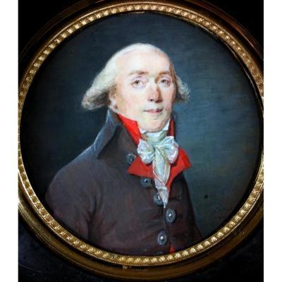 Signé Canot 1794, portrait miniature révolutionnaire
