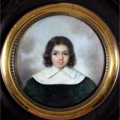 Portrait d'enfant, miniature vers 1830