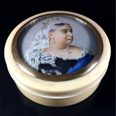 Miniature Portrait Of Queen Victoria, Diamond Jubilee's Tabatière, 1897