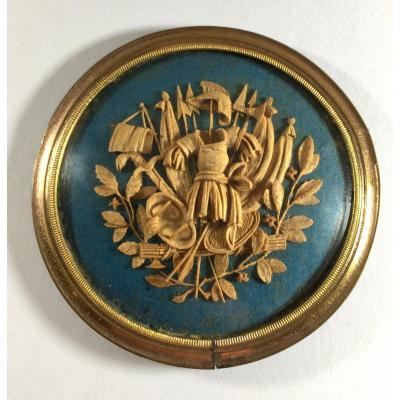 Guiseppe Maria Bonzanigo , La Guerre, microsculpture sur bois, XVIIIe siecle