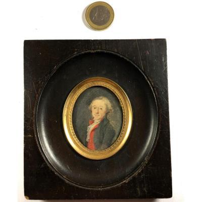 Portrait miniature, XVIIIe siècle.