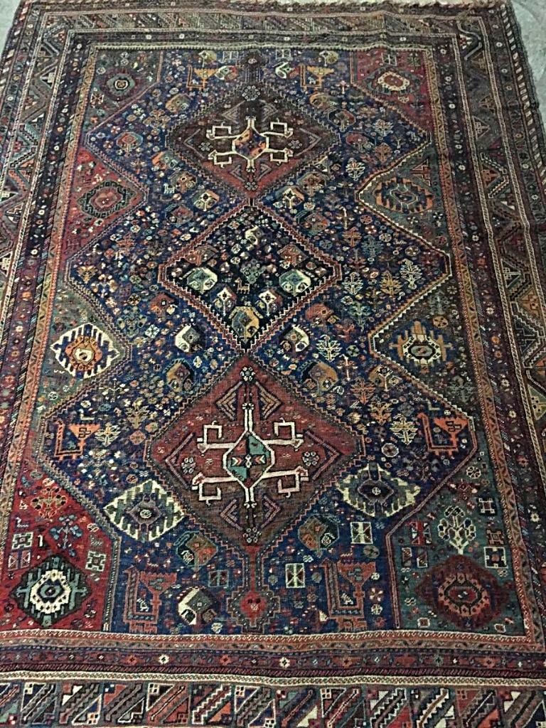 Grand Tapis Chiraz  - 214 Cm X 284 Cm - Fin XIX ème Siècle
