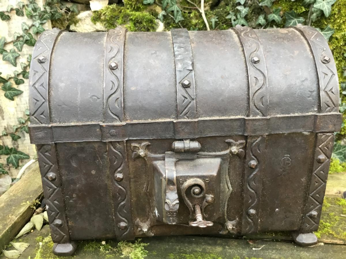 Wrought Iron Chest Nineteenth