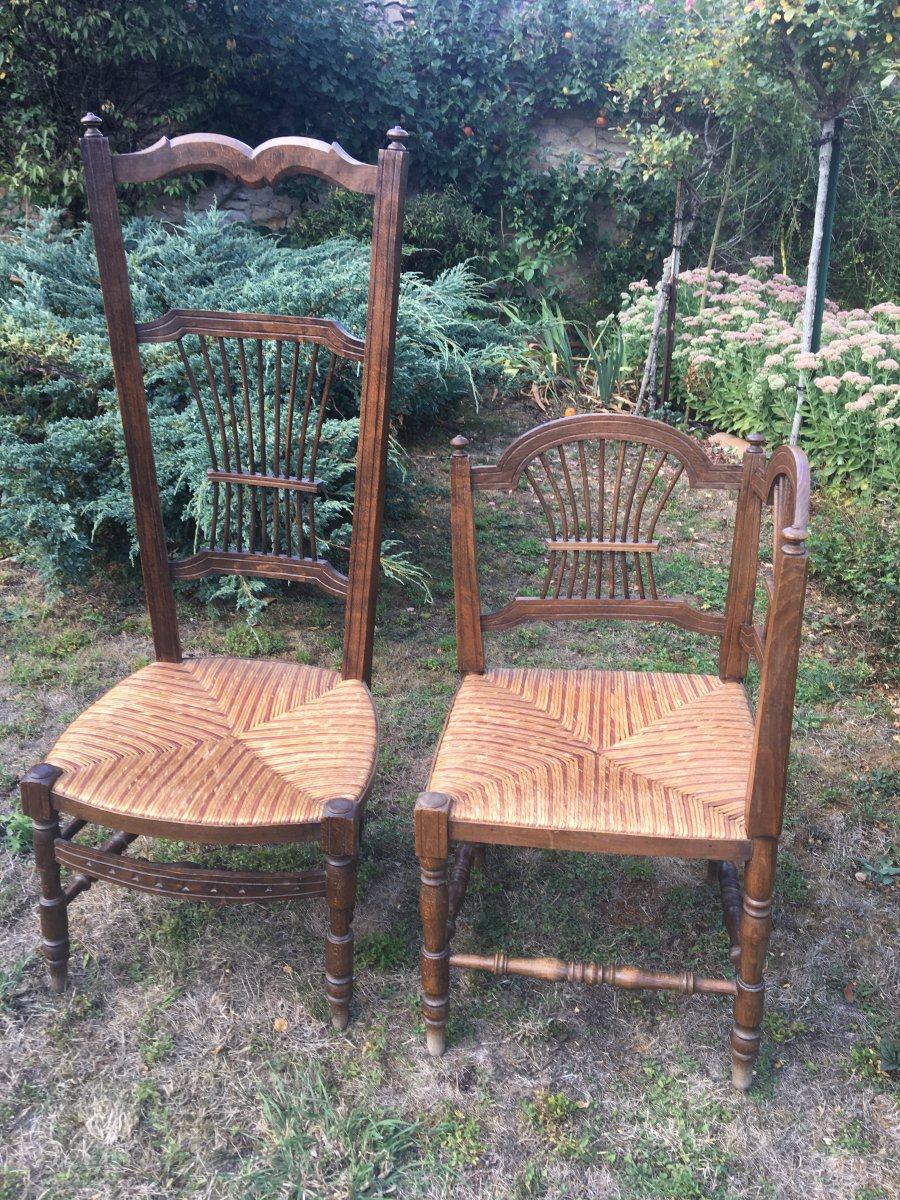 Two Assorted Straw Corner Seating