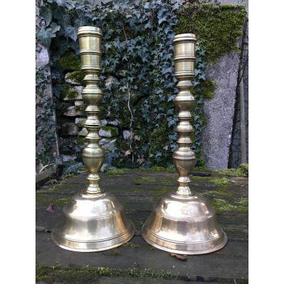 Pair Of Candlesticks Haute Epoque, XVII