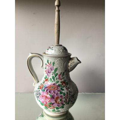 Chocolate Maker With Floral Decor And Foam