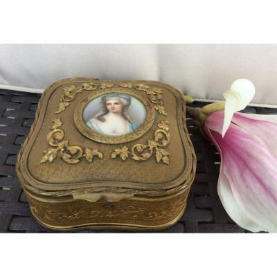 Napoleon III Box In Golden Brass