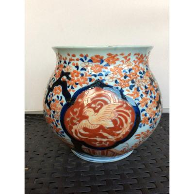 Vase Japonais En Porcelaine Imari , XIXème