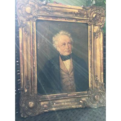 Portrait D'homme D'epoque Restauration