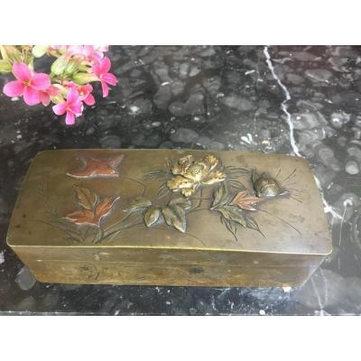 Stamp Box, Bronze, Japan, Meiji Period