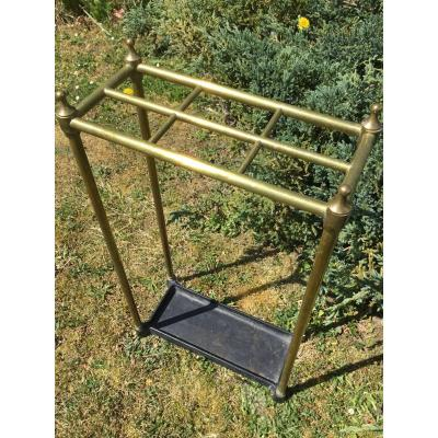 Umbrella Holder In Golden Brass