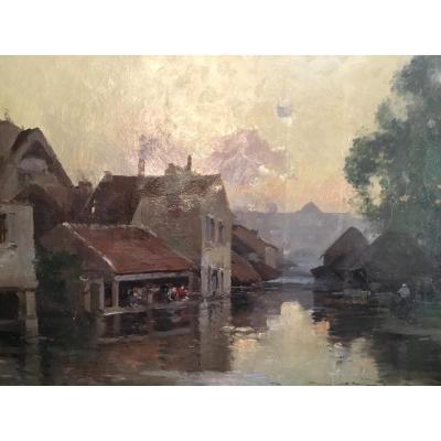 Eugène Galien-laloue, Under The Pseudonym De Lievin: Lavandières