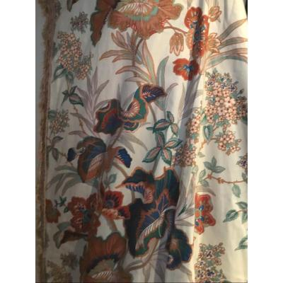 Une Tenture Doublée En Coton Soyeux ( 3 Disponibles) 248 X 204 Cm