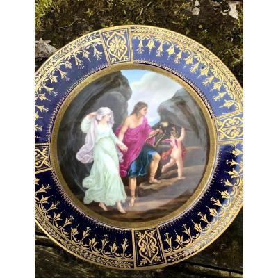Assiette En Porcelaine Décor à L'or, XIXème
