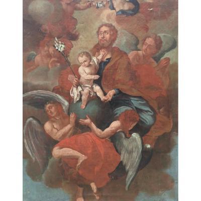 Ravissement De Saint Joseph, école Italienne Ou Provençale Du XVII